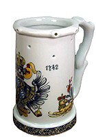 Beerstein Trick Mug Historic Bavarian Coat of Arms 7.3inch