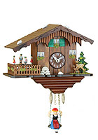 Kuckulino Quartz Clock Swiss Chalet Turning Dancers, 6.7inch
