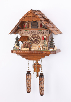 Quartz Cuckoo Clock moving hunter/turning water wheel 14